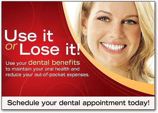End of Year Dental Insurance Postcard