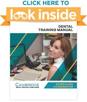 Look Inside Dental Office Scheduling Coordinator Manual