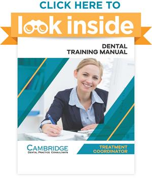 Dental Office Treatment Coordinator Manual Look Inside